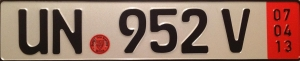 Customs Plates