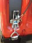 Cotter pin and tether for the Jerry Can mount latch