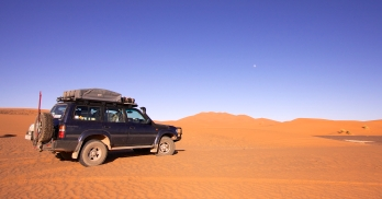 In the sands of Erg Chebbi, Morocco.