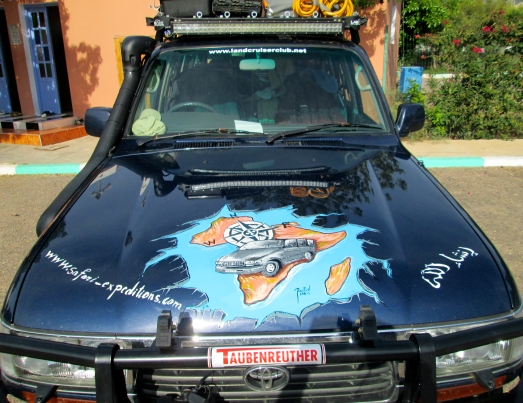 The paint job we received from a Moroccan artist near Agadir.