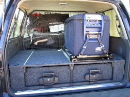 78l ARB Fridge/Freezer, African Outback Drawer System, cargo cage, Bushranger Diggar Shovel