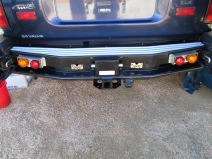 ARB rear bumper system: locking points for the swing outs