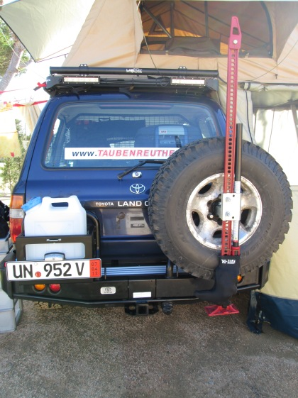 ARB rear bumper system: closed and ready for travel