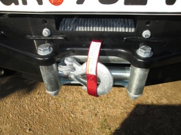 Warn XDC Extreme Duty Winch at 9500lbs: mounted int he ARB front bumper/bull bar