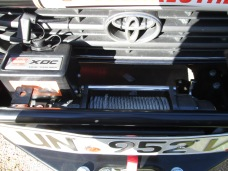 Warn XDC Extreme Duty Winch at 9500lbs: top view of the cable and drum, motor, and control box.