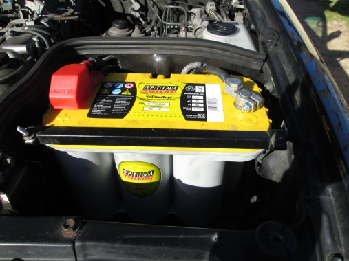 Optima Yellow top batteries: Enough cold cranking amps to start the truck and run lights, the fridge, and the winch, but in deep cycle so that it can be discharged and charged hundreds of times rather then 2 or 3.