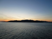 View of Africa from the ferry in the Straight of Gibraltar