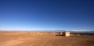 The view from our highway breakfast after driving through the Atlas Mountains.