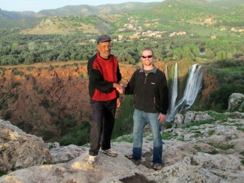 Chris and Hassam, whom guided us 20 meters to a view of the falls behind his house.