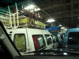 The jammed ferry.