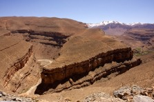 Landscape scenery from the piste north of Dades Gorge.