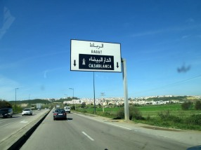 The sign for Cadsablanca on the highway.