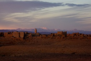 The breakfast view from the road when we stopped after sleeping in the Atlas Mountains.