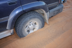What is special about this sand is that there is about 40 more feet of loose sand under the visible sand. Zero traction.