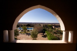 View from outside our room at the Kasbah.