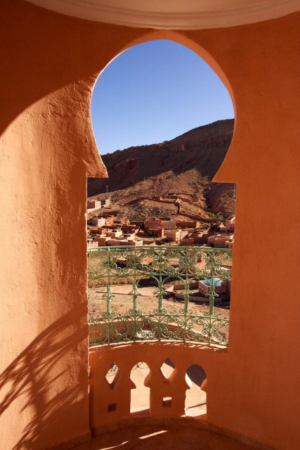 Our view from the mountain Kasbah.