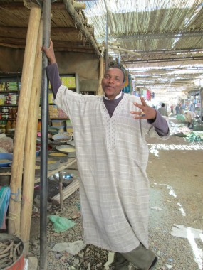Our market guide, Mohammed.