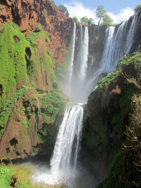 Cascades d'Ouzad is a waterfall in the Atlas Mountains near the source of the feeding river.