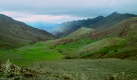 The Atlas Mountains near Cascades d'Ouzad.